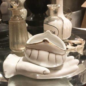 Vintage porcelain vase 'La Main'