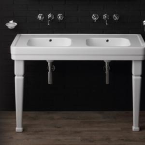 Double washbasin Art Deco style