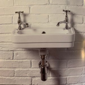 Cloakroom basin oblong Art Deco