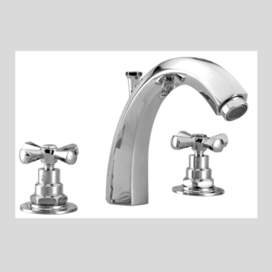 Thee hole basin mixer art deco