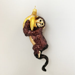 Christmas Decoration Little Monkey Brown