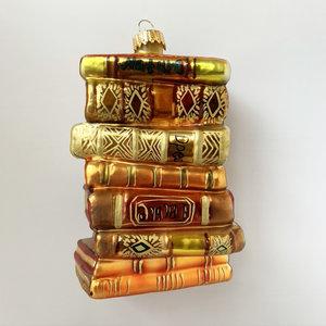 Kerstbal Stapeltje Boeken