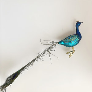 Christmas Decoration Clip Proud Peacock