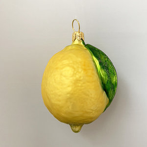 Christmas Decoration Whole Lemon with Leaf