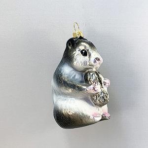 Kerstbal Hamster met Pinda