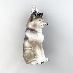 Kerstbal Zittende Wolf
