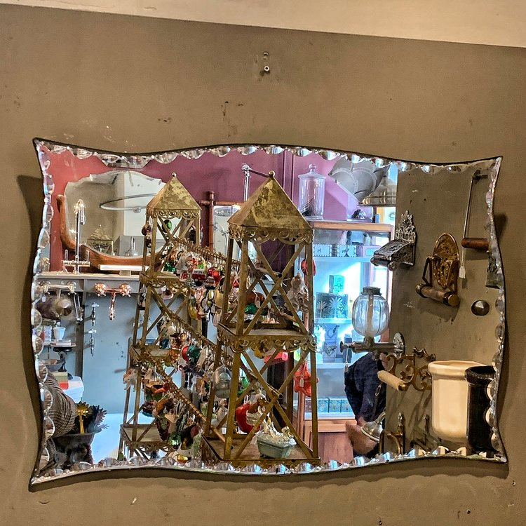 Antique Bevelled Mirror Affaire D Eau