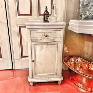 Antique cabinet with ceramic top