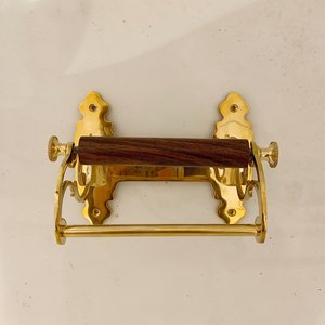 Toilet rol holder Art Nouveau Brass
