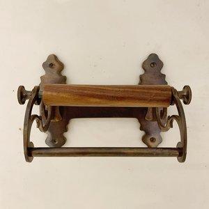 Toiletrolhouder Art Nouveau donker koper