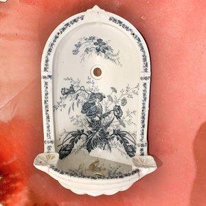 Antiek hoekfonteintje Papaver
