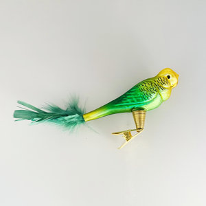 Christmas Decoration Clip Green Parakeet