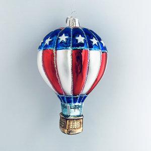 Kerstbal Luchtballon Amerika