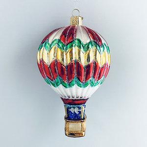 Kerstbal Luchtballon Kleurrijk