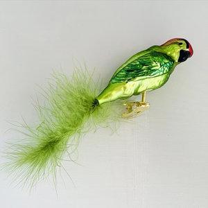 Vogelclip Groene Papegaai