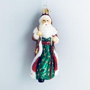 Kerstbal Wandelende Santa