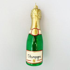 Kerstbal Flesje Champagne