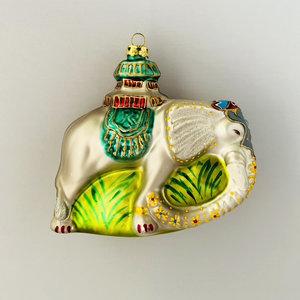 Christmas Decoration Palace Elephant Green
