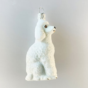 Christmas Decoration White Poodle