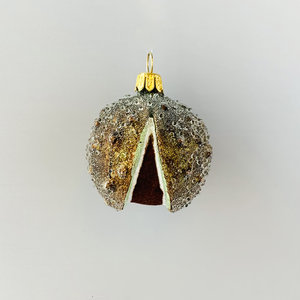 Kerstbal Kastanje Frosted
