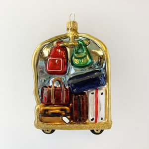 Christmas Decoration Bellboy Trolley