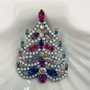 Kerstboombroche  Snow white