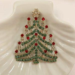 Christmas pin  light green