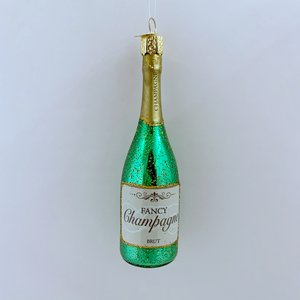 Kerstbal Champagne Fles