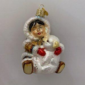 Kerstbal Lachende Eskimo