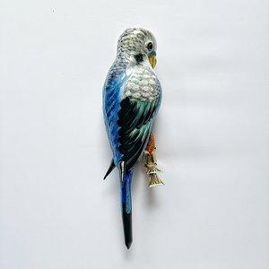 Christmas Decoration Clip Large Parakeet Blue