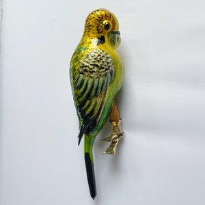 Christmas Decoration Clip Large Parakeet Yellow