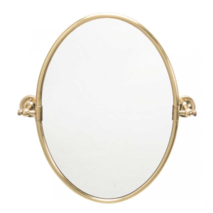 Oval pivoting mirror Gold