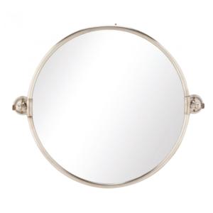 Round pivoting mirror