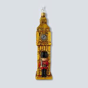Kerstbal Big Ben met Royal Guard