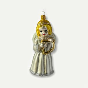 Christmas Decoration Angel with a Lyre Large