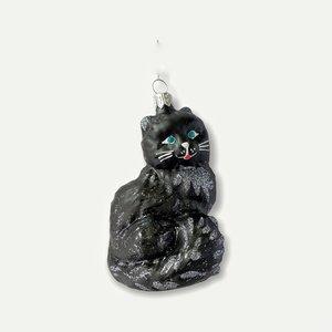 Kerstbal Zwart Katje