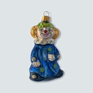 Kerstbal Clowntje Blauw