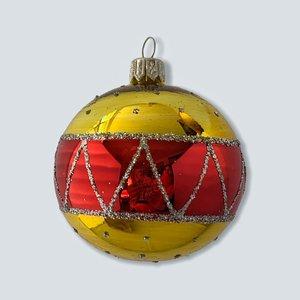 Kerstbal Geel Rood