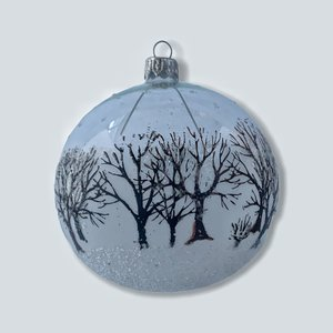 Kerstbal Winterse Bomen