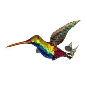 Christmas Decoration Clip Hummingbird Colourful