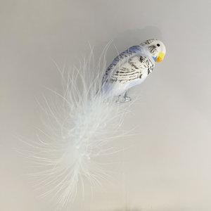 Vogelclip Grasparkiet Blauw