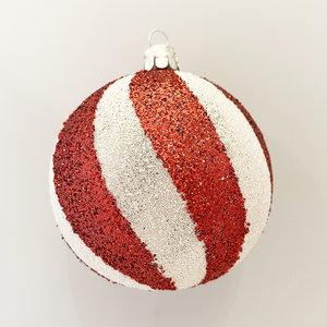 Kerstbal Peppermint Swirl