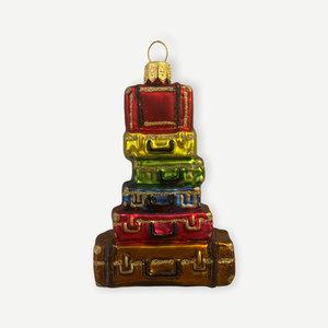 Kerstbal Stapel Koffers