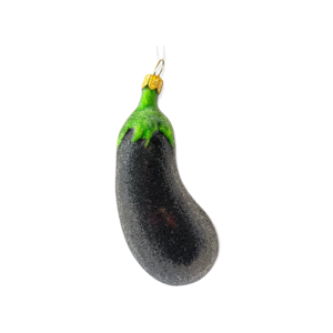 Christmas Decoration Small Eggplant Frosted