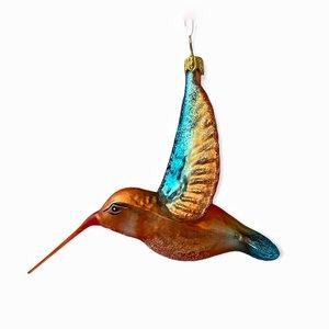Kerstbal Kolibrie Oranje Vleugels Hoog