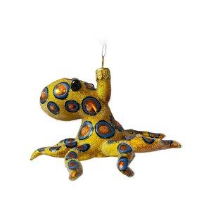 Kerstbal Octopus Geel