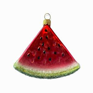 Kerstbal Schijfje Meloen Frosted