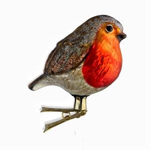 Christmas Decoration Clip Fat Robin