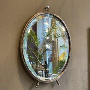 Ovale facet geslepen spiegel