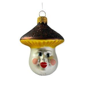 Kerstbal Lachende Paddenstoel Bruin